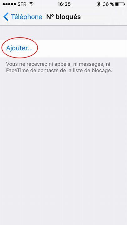 Bloque contact iPhone 2