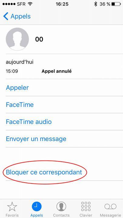 Bloque contact iPhone 4