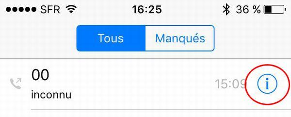 Bloque contact iPhone 5