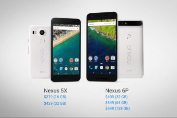 Google Nexus 5X 6P Price Slide