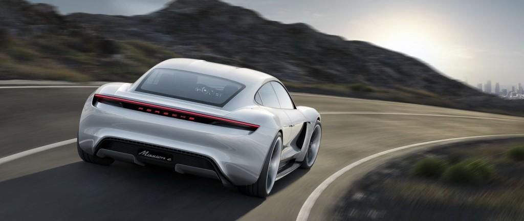 Porsche Mission E back