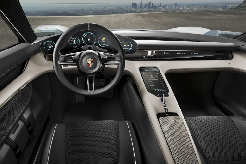 Porsche Mission E inside