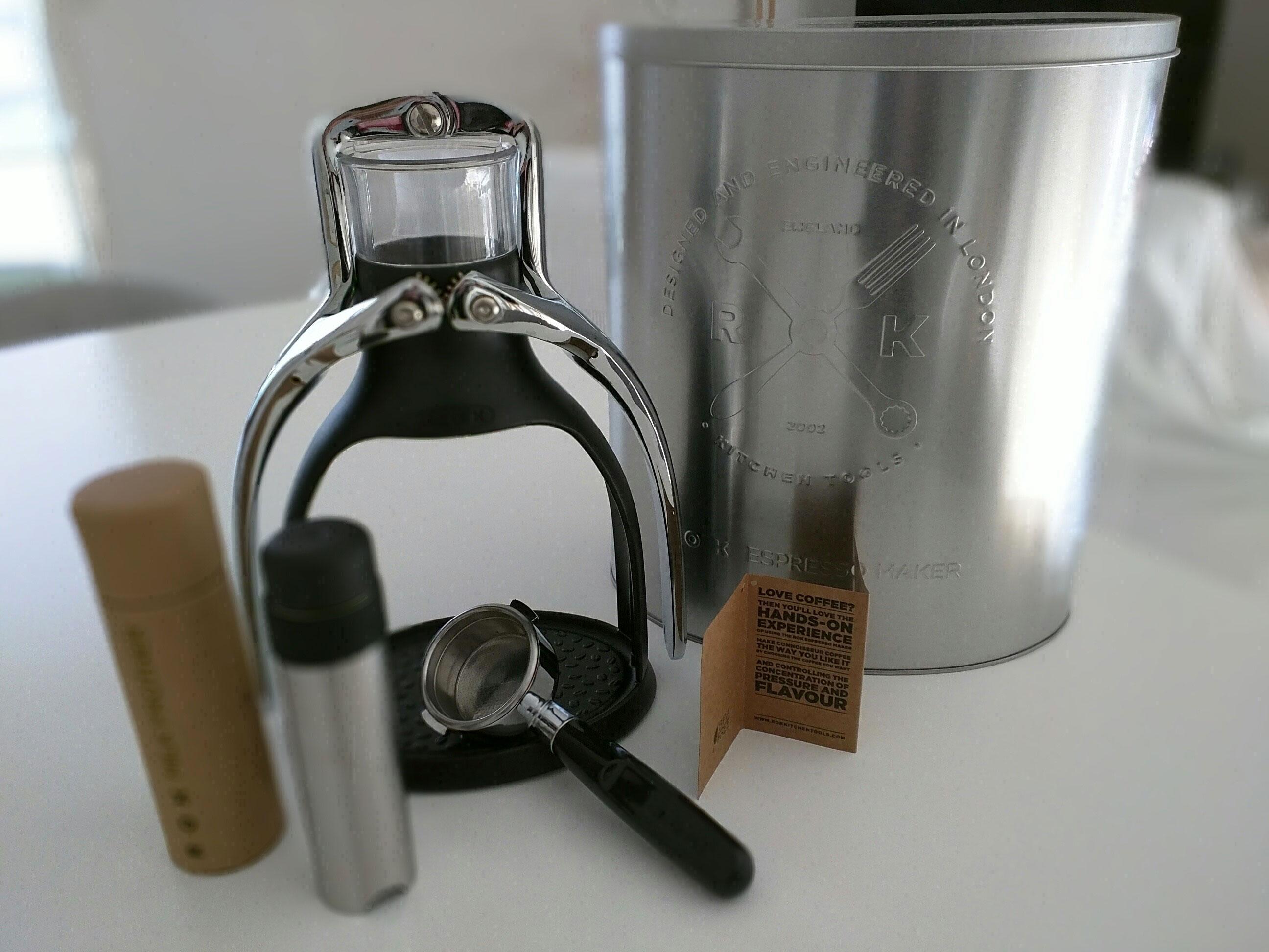 Rok Espresso Machine Packaging