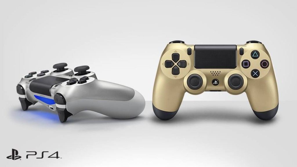 Dual Shock 4 Gold Silver