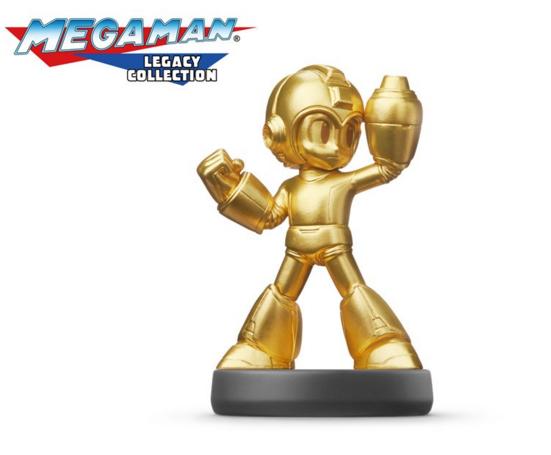 Megaman-Legacy-Amiibo-Gold