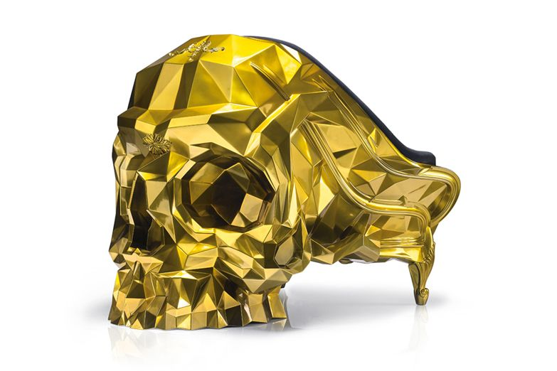 Harow Glod Skull Chair 2
