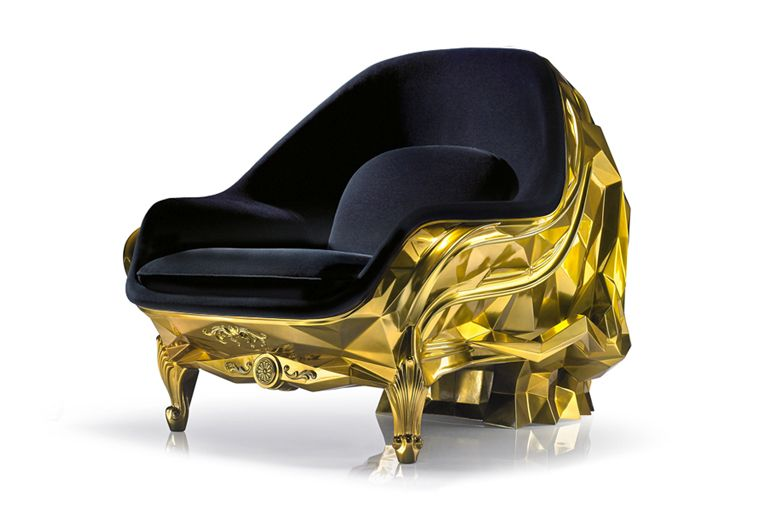 Harow Glod Skull Chair 3