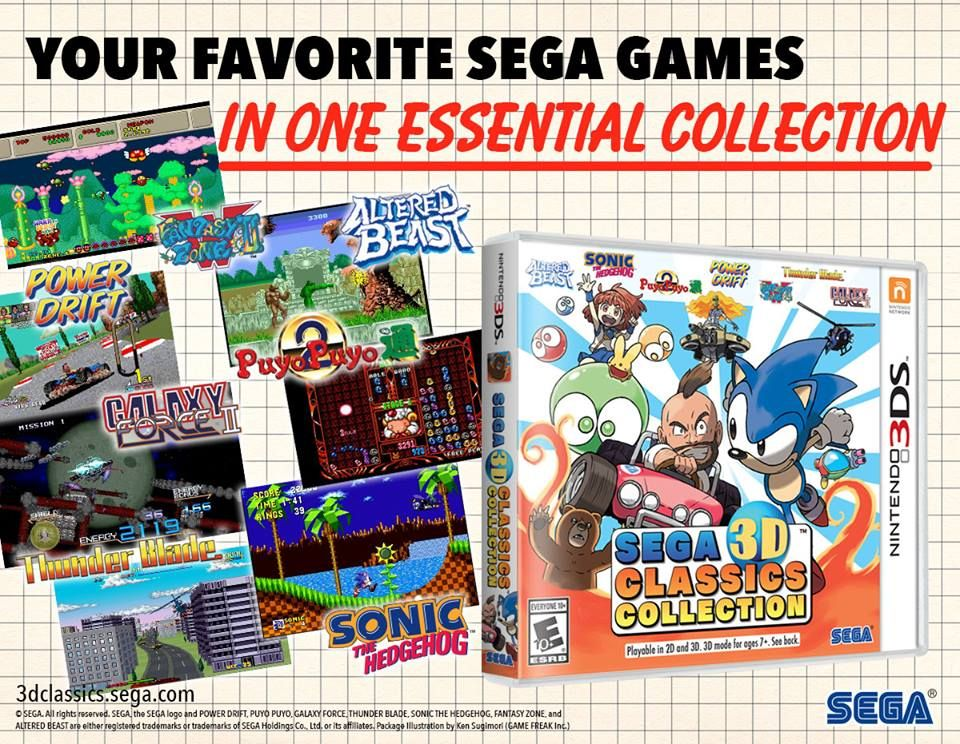 SEGA 3D Classics Collection poster