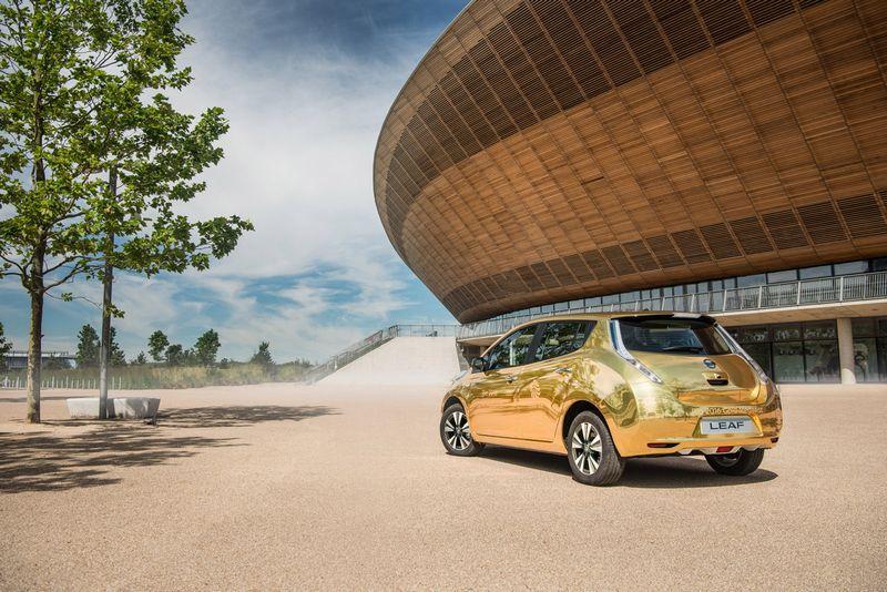 Nissan Leaf EV Gold Rio 2016