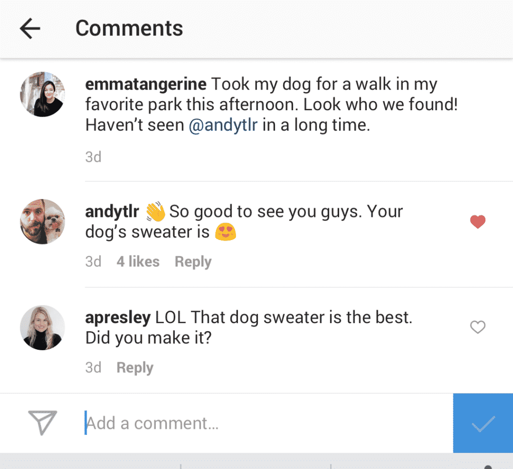 Instagram-commentaires