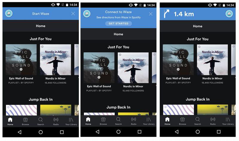 Spotify désormais compatible avec l'application Waze