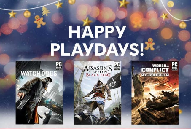 ubisoft playdays trois jeux complets offerts pour no l thm magazine. Black Bedroom Furniture Sets. Home Design Ideas