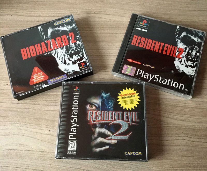 Resident Evil 2 Jap Eur US