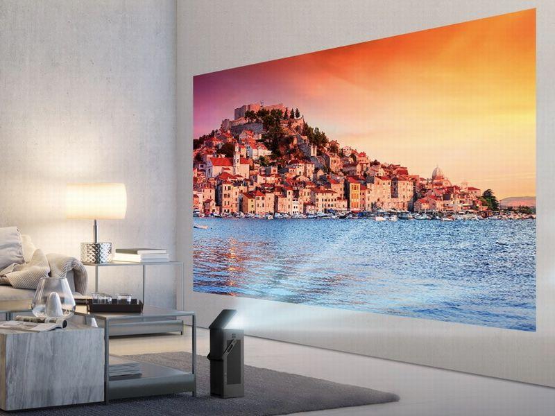 CES 2018 : un vidéoprojecteur compact Ultra HD 4K chez LG