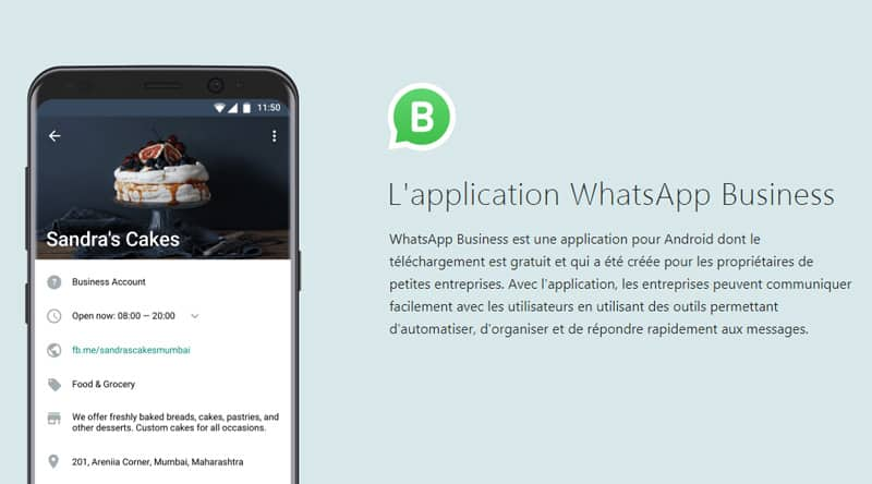 Lancement de l'application pour les entreprises — WhatsApp Business