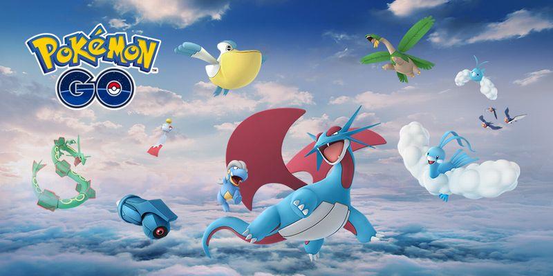 Rayquaza arrivent avec de nouveaux Pokémon d'Hoenn — Pokémon GO