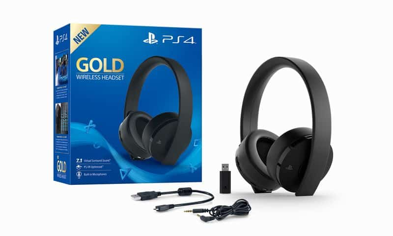 sony un nouveau casque micro sans fil or pour ps4 thm. Black Bedroom Furniture Sets. Home Design Ideas