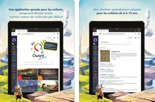 Qwant Junior, l'appli mobile qui sécurise le Web pour les enfants