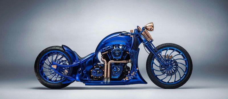 Harley Davidson Blue Edition