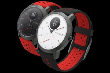 montre withings steel hr sport bracelet rouge
