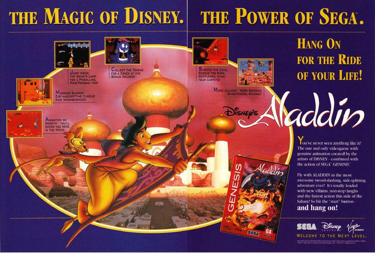 Aladdin Ad Pub Mega Drive SEGA