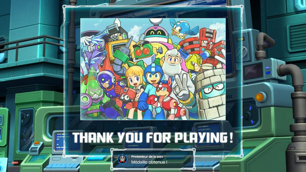 megaman 11 thank you for playing