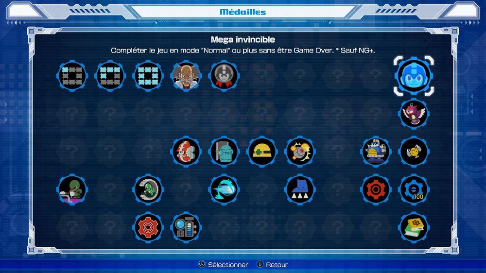 megaman 11 medals list