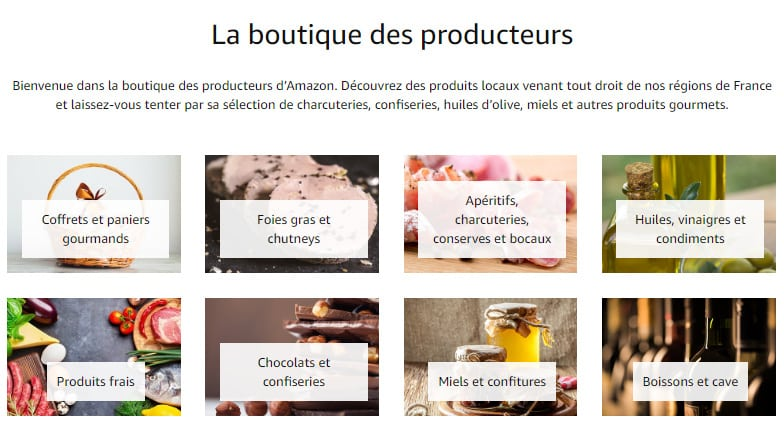 Amazon Boutique Producteurs
