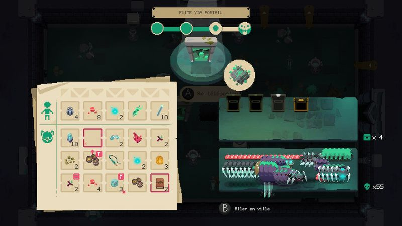 Moonlighter Screen Switch