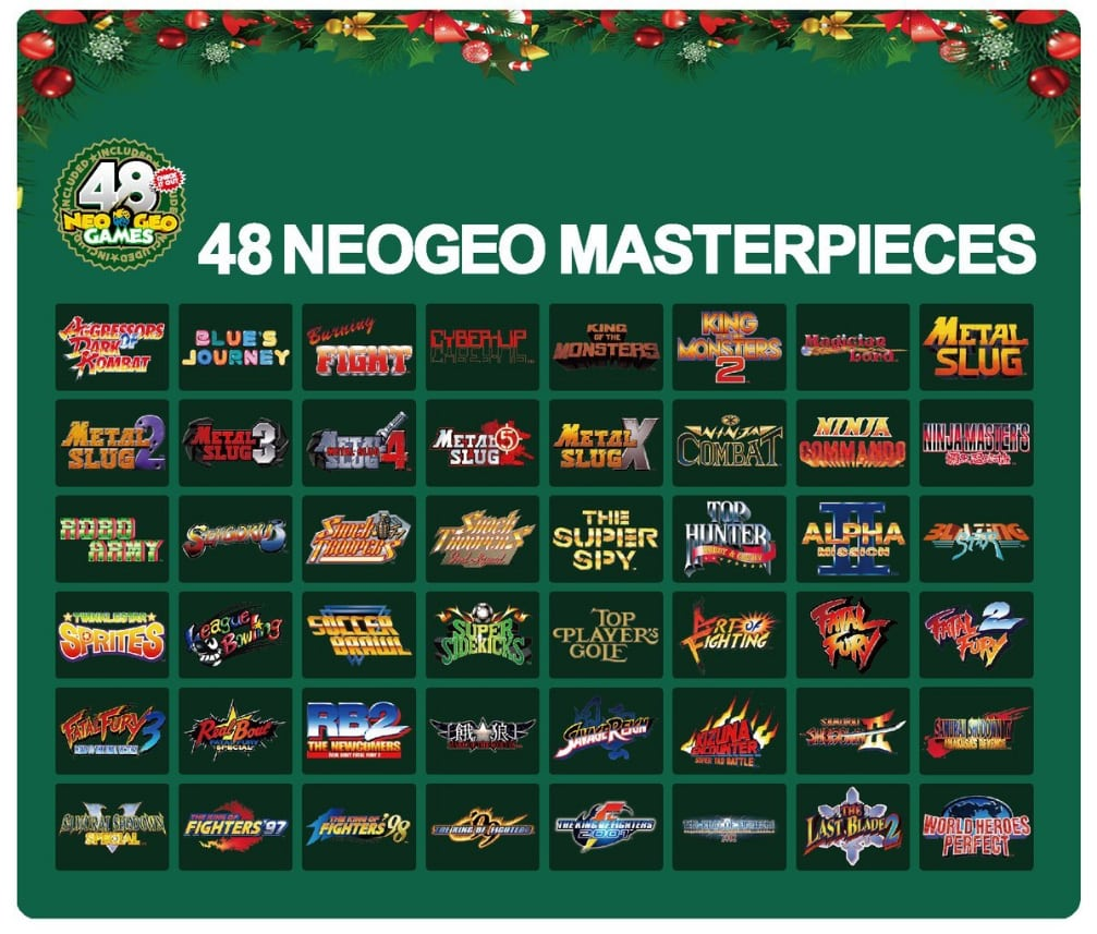 Quel sera le prix de la Neo Geo Mini ? Infos et rumeurs... - Page 7 Neo-Geo-Mini-Noel-Liste-Jeu