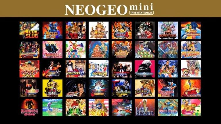 liste jeux neo geo mini international