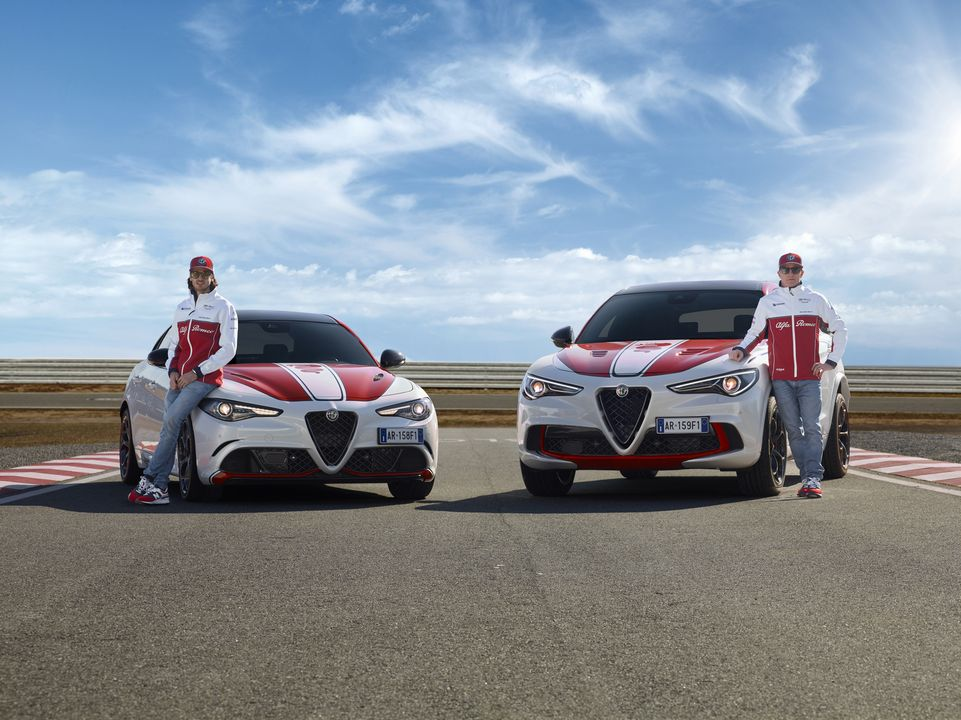 Les Giulia et Stelvio en mode Alfa Romeo Racing