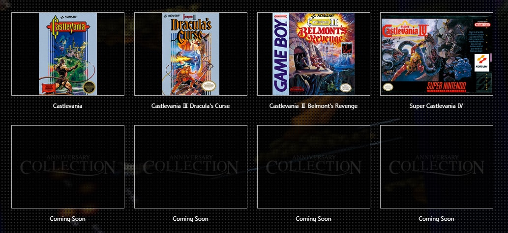 Castlevania-Collection-list