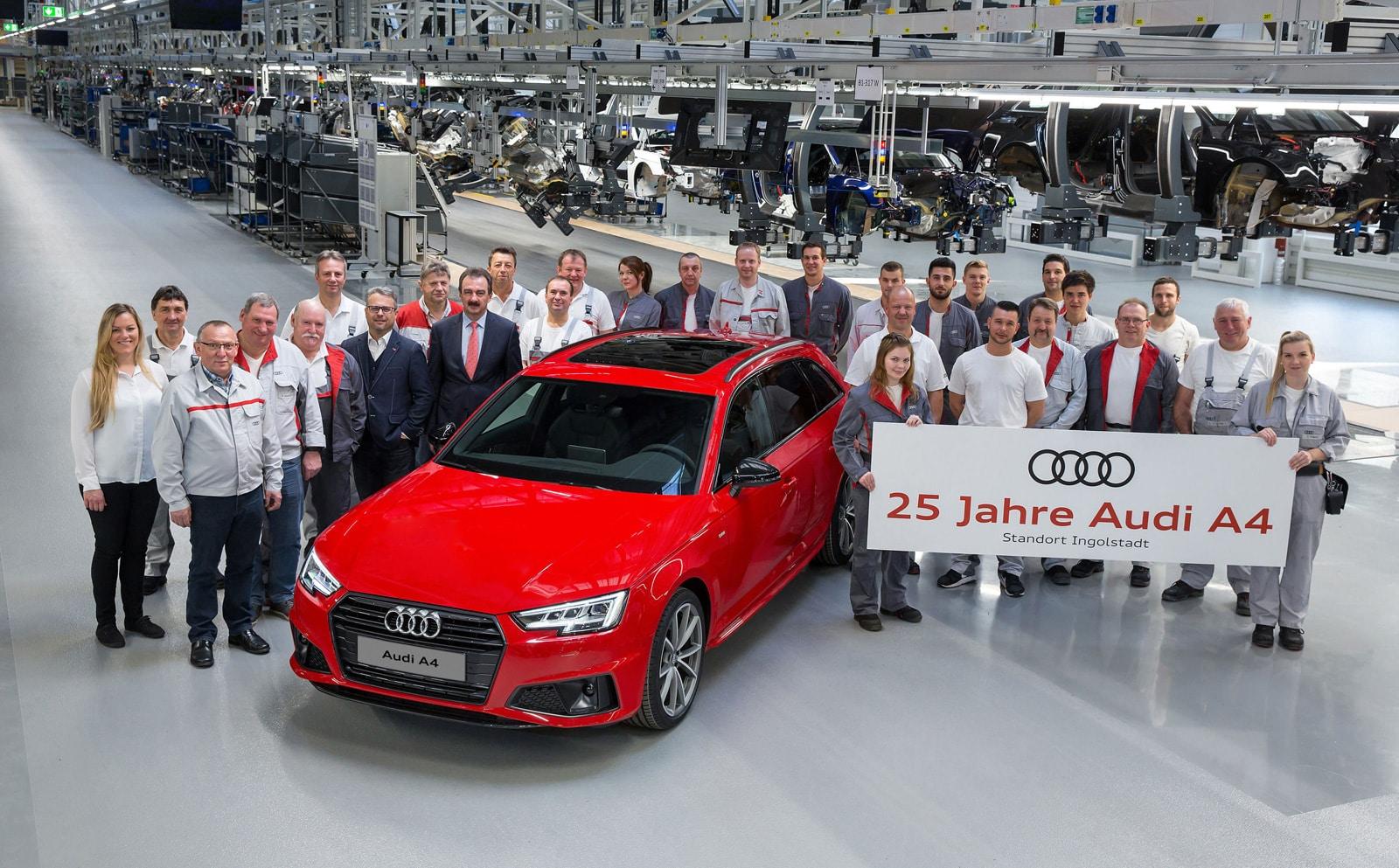 Audi : 25 ans d'Histoire pour l'Audi A4 !