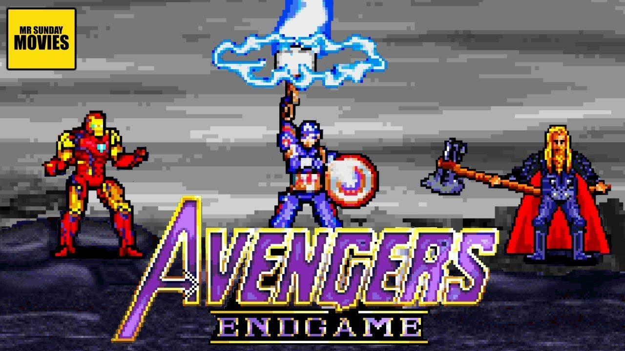 Avengers Endgame video 16 bits