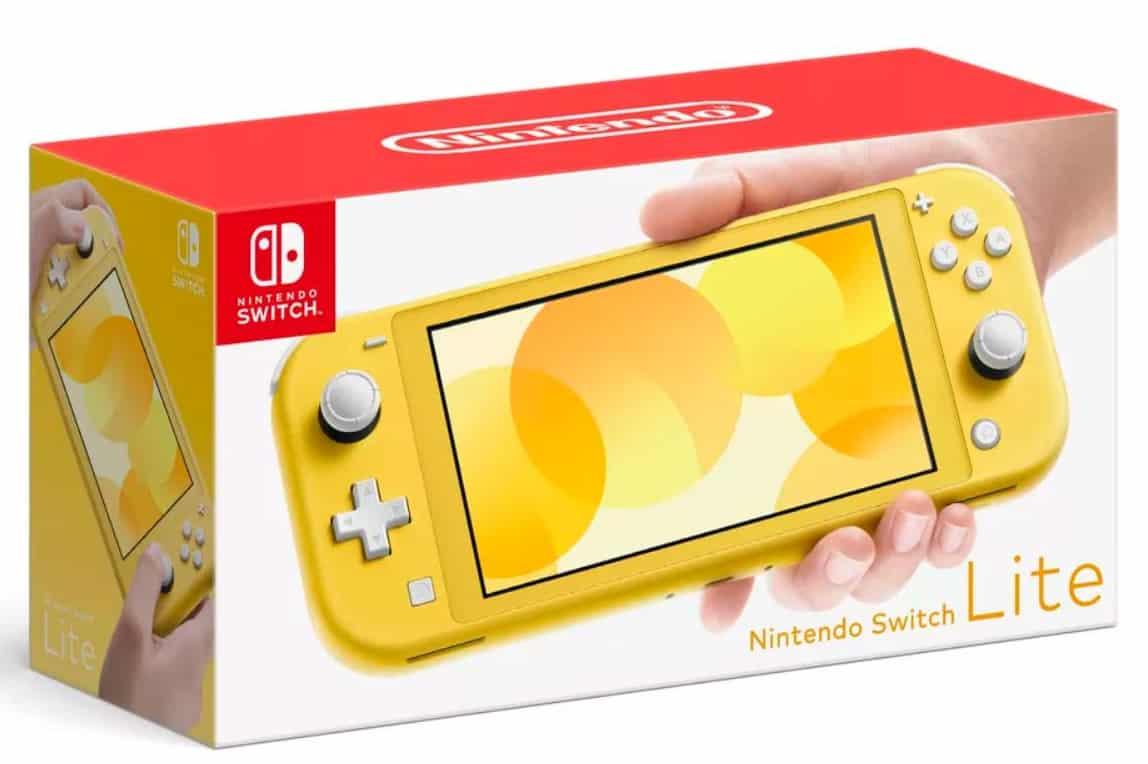 La nouvelle Nintendo Switch Lite en Jaune