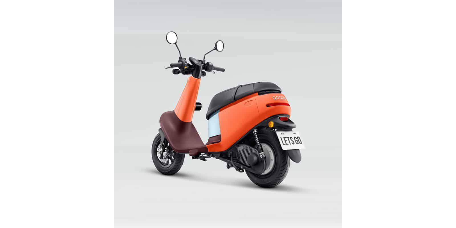 L'arrière du scooter électrique Gogoro Viva