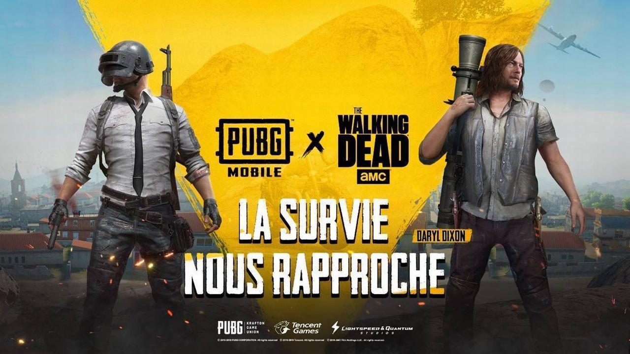 Partenariat PUBG Mobile The Walking Dead