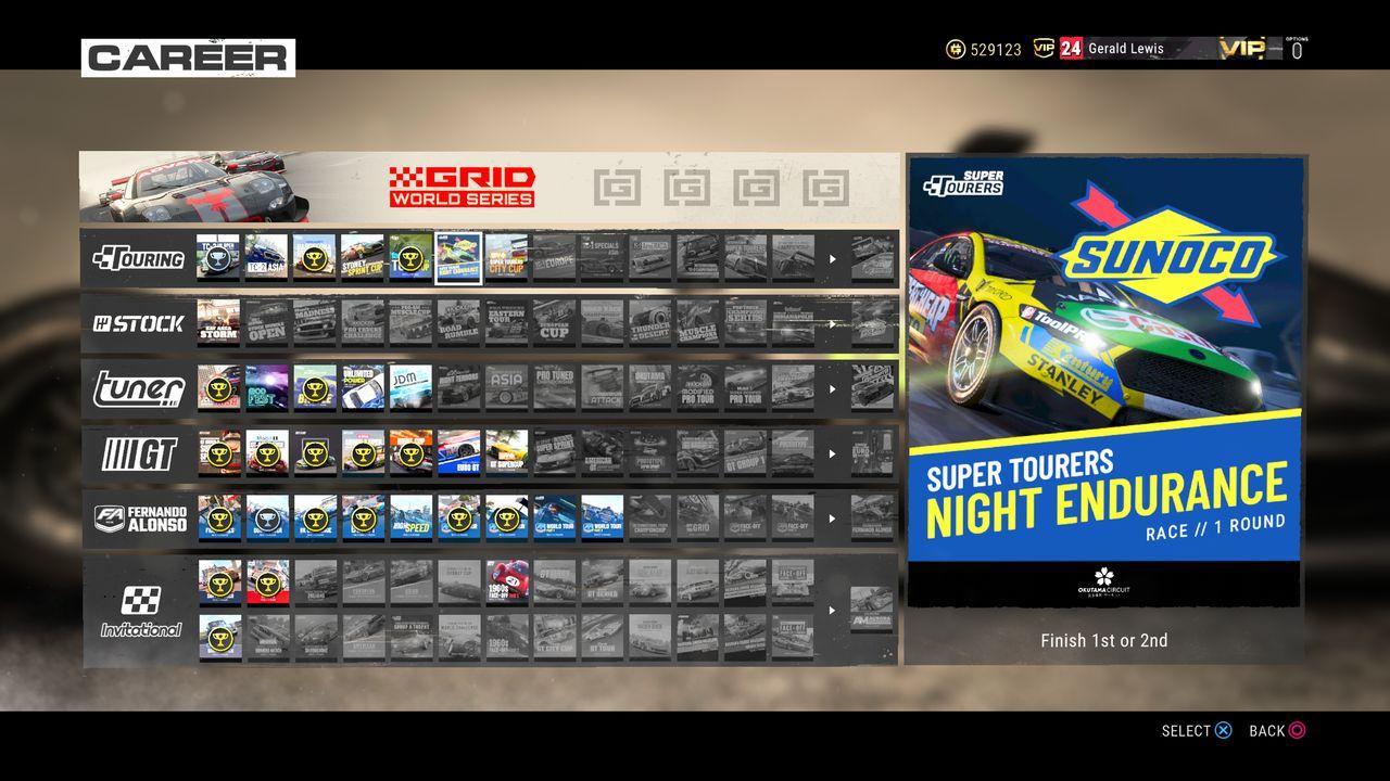 Test GRID PS4 Pro Mode Carrière