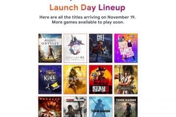 Les 12 jeux disponibles au lancement de Google Stadia le 19 novembre