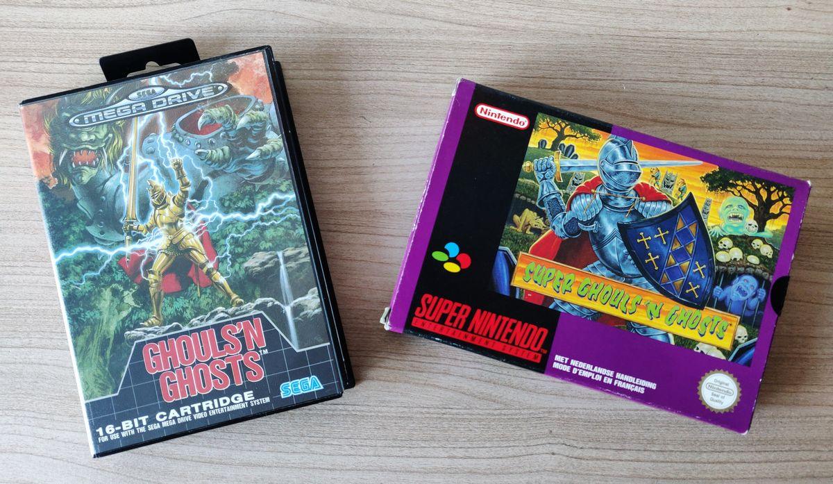 Super Ghouls'n Ghosts sur Mega Drive et Super Nintendo