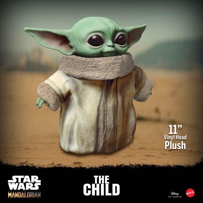 Peluche Vinyle Mattel Baby Yoda Star Wars