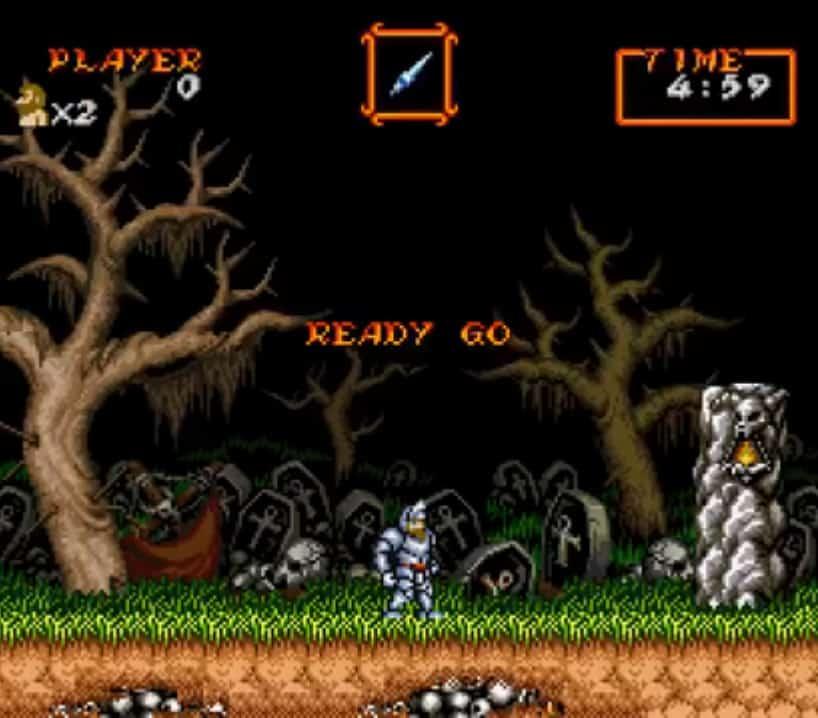 Premier niveau Super Ghouls'n Ghosts