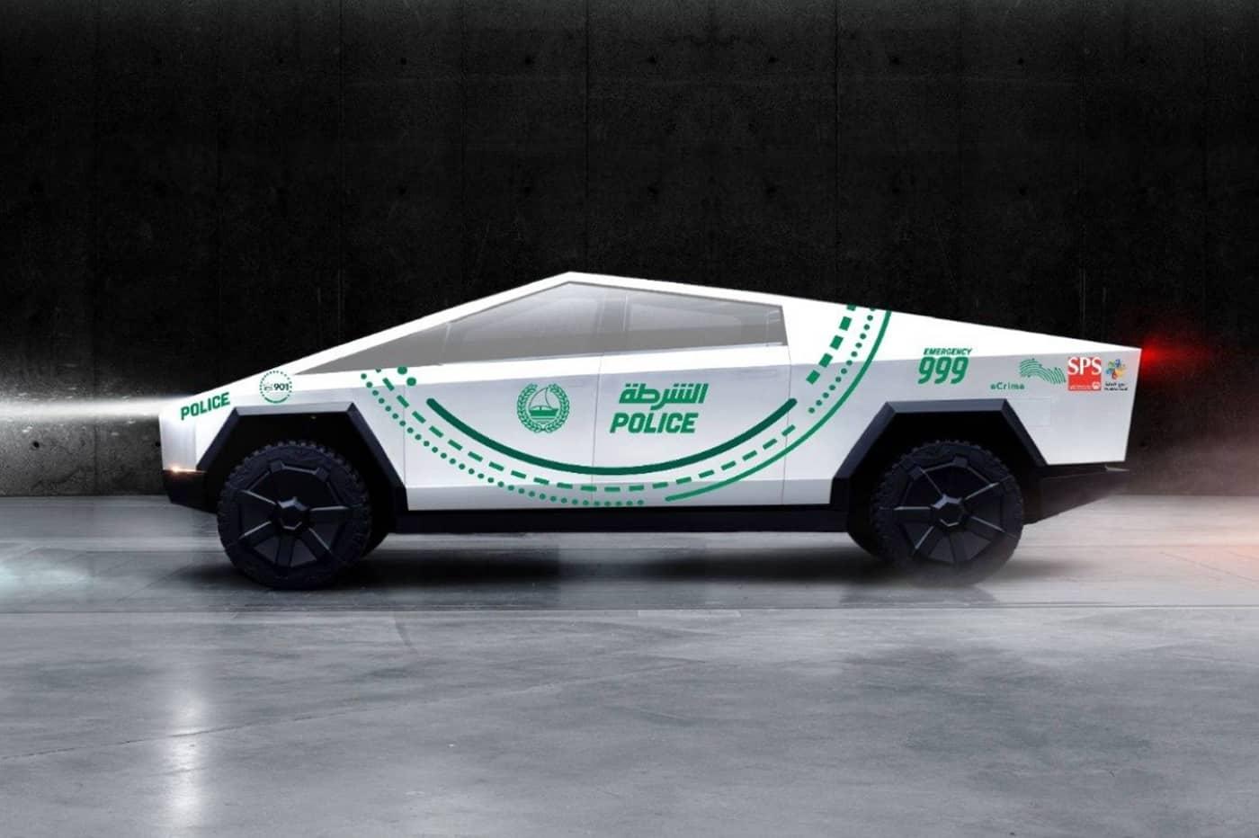 Le Tesla Cybertruck pour la police de Dubai