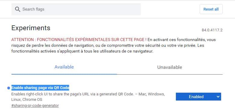 Google Chrome QR Code