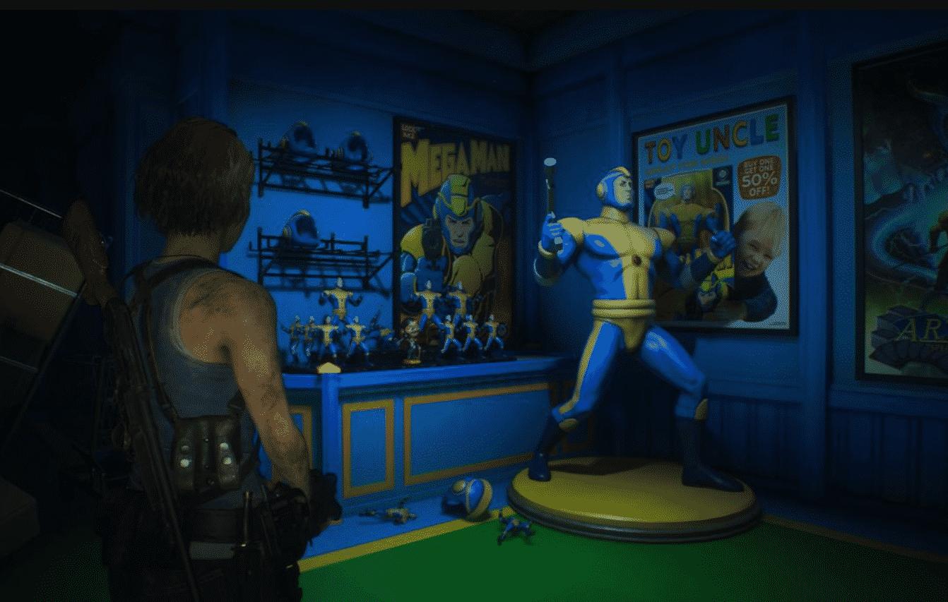 Mega Man Reference Resident Evil 3
