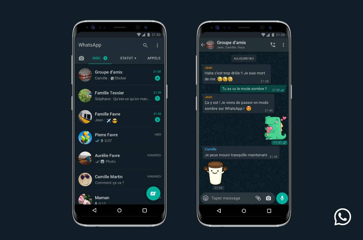 Mode Sombre WhatsApp sur Android