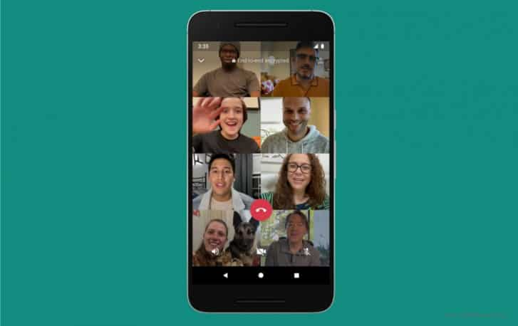 WhatsApp Video 8 Contacts