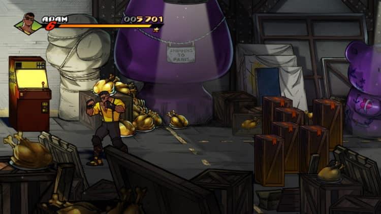 Streets of Rage 4 découvrir un niveau rétro trophée succès