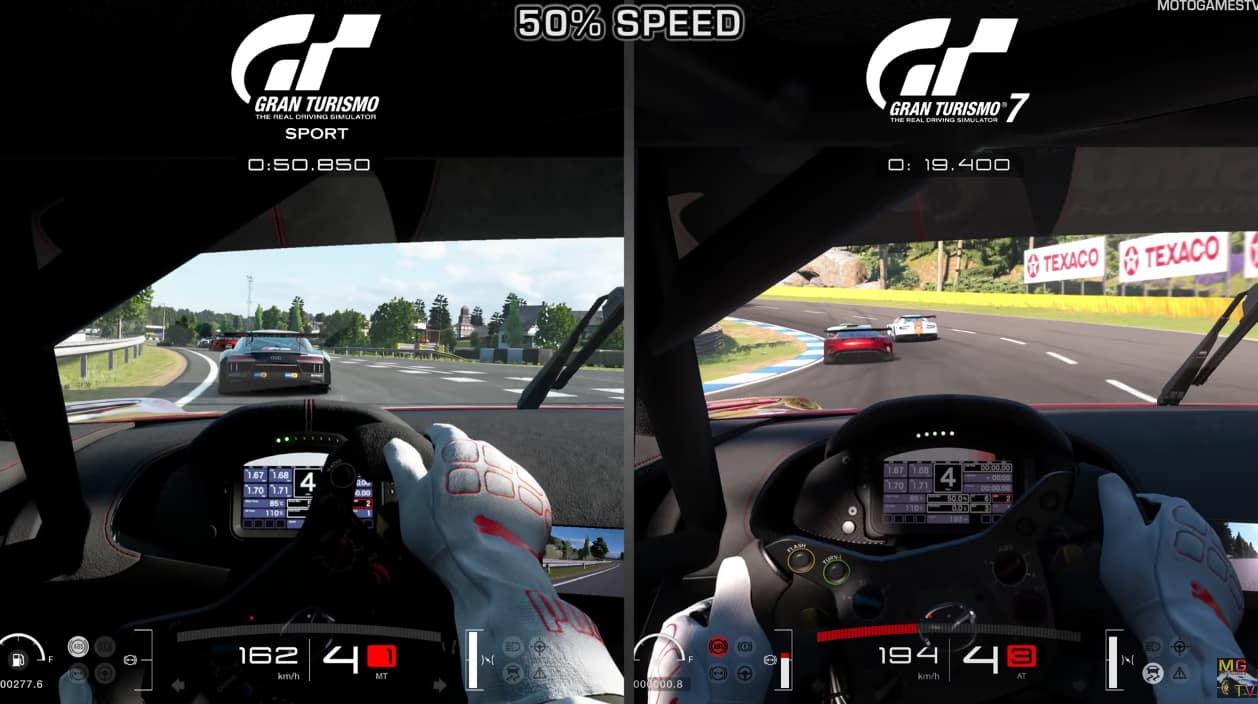 Vidéo Comparatif Gran Turismo 7 PS5 GT Sport PS4